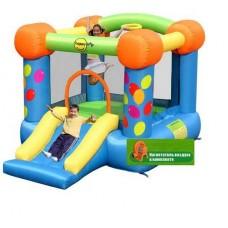Надувной игровой батут праздничный полет  Happy Hop Party Slide and Hoop Bouncer 9070