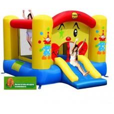 Надувной центр батут замок с горкой веселый Клоун  Happy Hop Clown Slide and Hoop Bouncer надувная конструкция 9201