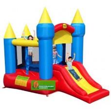 Батут надувной крепость с горкой  Happy Hop Pentagon-shaped Castle With Slide 9018