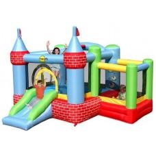 Надувной центр батут цитадель Happy Hop Castle Bouncer With Farmyard Ballpit 9112
