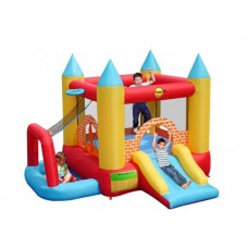 Надувная горка батут Игровой центр 4 в 1 Мини Замок Happy Hop 4 In 1 Play Center 9114