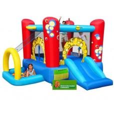 Детский надувной батут замок Happy Hop Bubble 4 in 1 Play Center 9214 Игровой центр 4 в 1