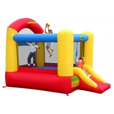 Надувная горка батут высокий прыжок Happy Hop Slide and Hoop Bouncer 9304N