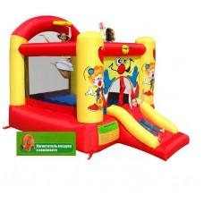 Надувной игровой батут смешной клоун с горкой Happy Hop Clown Slide and Hoop Bouncer надувная конструкция 9304Y