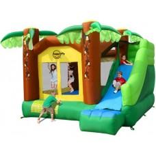 Надувной центр батут с горкой Джунгли Happy Hop Jungle Climb and Slide Bouncy House 9164