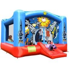 Детский надувной батут звездные войны Happy Hop Super Space Slide Bouncer 9212