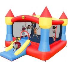 Надувной игровой батут Happy Hop Super Castle Bouncer with Slide надувная конструкция 9217N