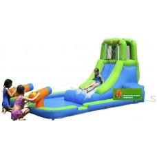 Надувной батут Мини Аквапарк Happy Hop Water Slide With Pool and Cannons 9040