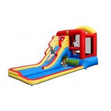 Надувной игровой центр батут веселый клоун Happy Hop Giant Airflow Bouncy Castle and Pool 9049N