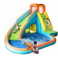 Надувной центр водный батут Happy Hop Water Slide With Pool and Cannon 9117N