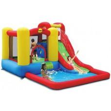 Детский водный батут с бассейном Happy Hop Jump & Splash Adventure Zone 9271