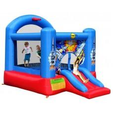 Надувной батут звездные войны Happy Hop Space Slide and Hoop Bouncer 9304B