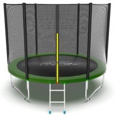 Распродажа - EVO JUMP External 10ft (Green) Батут с внешней сеткой и лестницей, диаметр 10ft (зеленый)