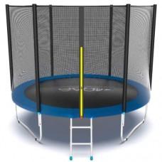 Распродажа - EVO JUMP External 10ft (Blue) Батут с внешней сеткой и лестницей, диаметр 10ft (синий)