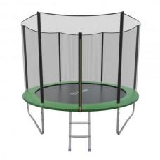 Распродажа - EVO JUMP External 10ft (Green) Батут СКЛАДНОЙ с внешней сеткой и лестницей, диаметр 10ft (зеленый)
