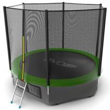 Распродажа - EVO JUMP External 10ft (Green) + Lower net. Батут с внешней сеткой и лестницей, диаметр 10ft (зеленый) + нижняя сеть