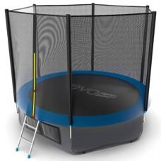 Распродажа - EVO JUMP External 10ft (Blue) + Lower net. Батут с внешней сеткой и лестницей, диаметр 10ft (синий) + нижняя сеть