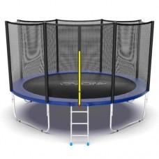 Распродажа - EVO JUMP External 12ft (Blue) Батут с внешней сеткой и лестницей, диаметр 12ft (синий)