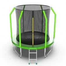 Распродажа - EVO Jump Cosmo 6ft (Green) Батут с внутренней сеткой и лестницей, диаметр 6ft (зеленый)