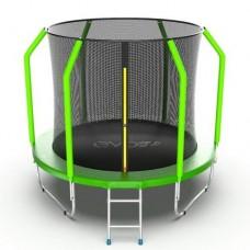 Распродажа - EVO JUMP Cosmo 8ft (Green) Батут с внутренней сеткой и лестницей, диаметр 8ft (зеленый)
