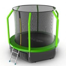Распродажа - EVO JUMP Cosmo 8ft (Green) + Lower net. Батут с внутренней сеткой и лестницей, диаметр 8ft (зеленый) + нижняя сеть