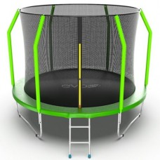 Распродажа - EVO JUMP Cosmo 10ft (Green) Батут с внутренней сеткой и лестницей, диаметр 10ft (зеленый)