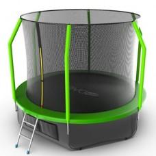 Распродажа - EVO JUMP Cosmo 10ft (Green) + Lower net. Батут с внутренней сеткой и лестницей, диаметр 10ft (зеленый) + нижняя сеть