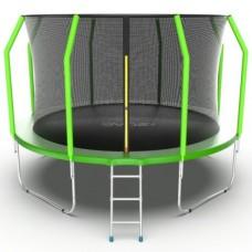 Распродажа - EVO JUMP Cosmo 12ft (Green) Батут с внутренней сеткой и лестницей, диаметр 12ft (зеленый)