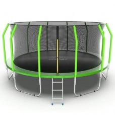 Распродажа - EVO JUMP Cosmo 16ft (Green) Батут с внутренней сеткой и лестницей, диаметр 16ft (зеленый)